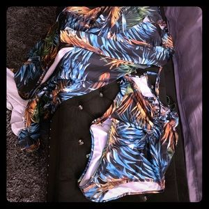 Swim suit with matching cover up